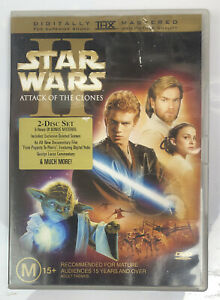 Star Wars 2 Attack Of The Clones 2 Disc Set In Good Condition