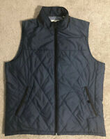 Tommy Bahama Quilted Full Zip Polyester Vest, Size XL