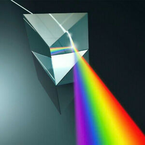200*30*30mm Rainbow Optical Glass Triple Triangular Prism Physics Teaching 1pc