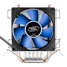 80mm CPU Fan LGA1156 1155 FM1 AM2 AM3 Cooler Aluminum Heat Sink Dual Copper Pipe