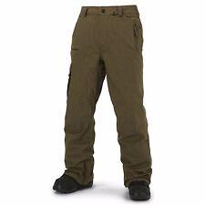 Volcom Ventral Snowboard Pantalones (XL) Verde Oliva