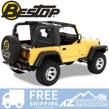 Bestop WrapAround WindJammer 97-02 Jeep Wrangler TJ Black Denim 80033-15