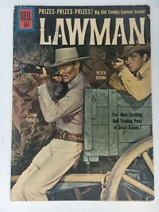 1960 LAWMAN TV Western Comic #8 VG Photo Cover JOHN RUSSELL & Peter Brown