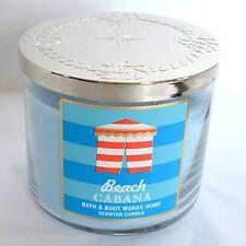 Beach Cabana Blue Bath & Body Works Scented 3 Wick Jasmine Jar Pillar Candle USA