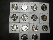 2012 2013 2014 2015 2016 2017 2018  P&D KENNEDYS 14 Coins from Mint Rls