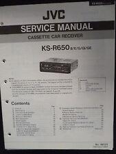 Original Service Manual JVC ks-r650