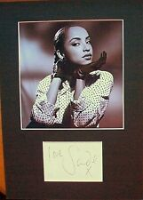 More details for sade adu: signed card mounted with photo. 'diamond life' 'smooth operator'. coa