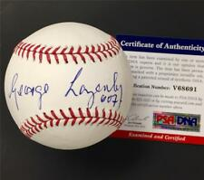 "James Bond actor GEORGE LAZENBY ""007"" autograph signed MLB Baseball ~ PSA COA"