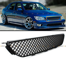 VIP GLOSSY BLACK FRONT HOOD 3D HONEYCOME MESH GRILL GRILLE FOR 01-05 LEXUS IS300
