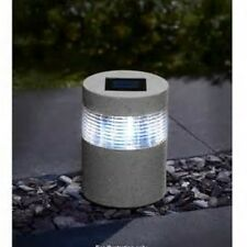 Solar Powered Led Lights Stone Effect Lamp Garden Path Driveway Outdoor Lighting