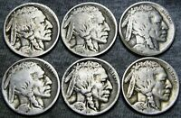 1913 T1 1916-S 1917-D 1918-S 1923-S 1924 Buffalo Nickel Lot ---- #G570