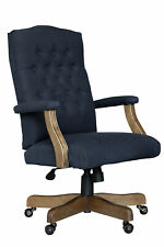 Boss Commercial Grade Linen Executive Chair In Navy Finish B905dw Nv