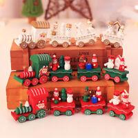 AU_ KE_ Christmas Mini Wooden Train Festival Desk Ornaments Decor Xmas Children