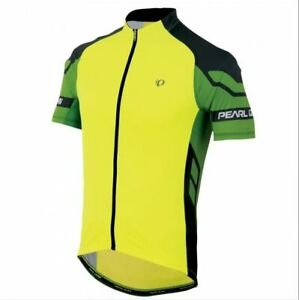 £98 PEARL IZUMI R-Cool Elite Jersey Cycling Shirt full zip Yellow Green Large L