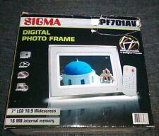 """SIGMA Digitaler LCD Bilderrahmen 7"""" 17,8 cm mit 4 Design Wechsel Rahmen wie neu"""