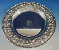 "Repousse by Kirk Sterling Silver Serving Platter Tray Round #2503 13"" (#2776)"