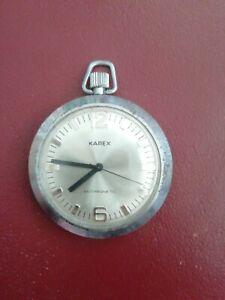 Karex Antimagnetic Taschenuhr Voll Funktionsfähig