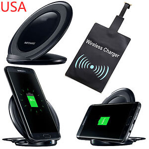 Wireless Charging Stand Qi Fast Charger Dock + Receiver For LG V20 V10 G4
