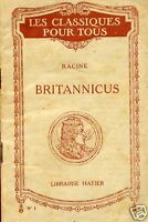 Racine = BRITANNICUS = LES CLASSIQUES POUR TOUS