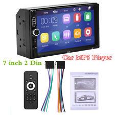 """2 DIN 7"""" unidad de cabeza de Pantalla Táctil Automóvil Reproductor MP5 Audio Bluetooth Radio FM Estéreo"""