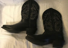 Ariat Black Leather Cowboy Western Boots Mens Size  10D Style 10002296