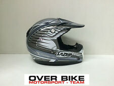 CASCO OFF ROAD CROSS MOTARD ENDURO QUAD LAZER MX6 HAWK GRIGIO ARGENTO TAGLIA XS