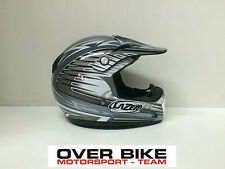 CASCO OFF ROAD CROSS MOTARD ENDURO QUAD LAZER MX6 HAWK GRIGIO ARGENTO TAGLIA L