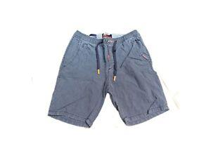 Superdry Bermuda Shorts Kurze Herren Hose Gr. W30 Blau Weiß Gestreift