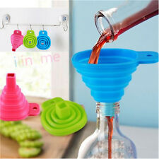 Silicone Collapsible Mini Filling Liquid Oil Water Funnel Foldable Hopper