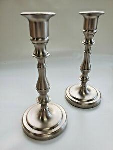 Pair Baldwin Silver Candlestick Holders, EUC