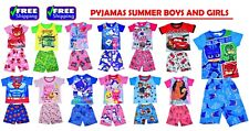 NEW SZ 2-7 KIDS SUMMER PYJAMAS BOYS GIRLS ALL CHARACTER  GIFT