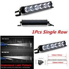 "7"" Single Row Aluminum Alloy 4D Lens LED Work Light Bar For Car ATV SUV TRUCK"
