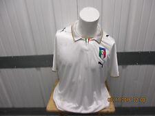VINTAGE PUMA ITALY NATIONAL FOOTBALL TEAM 2XL SEWN WHITE JERSEY 2008/10 KIT PREO