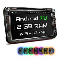 """8"""" AUTORADIO MIT ANDROID 7.1.1 2GB NAVI DVD USB WLAN PASSEND FÜR VW SEAT SKODA"""