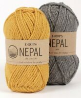 35% Alpaca, 65% Wool, Aran, Worsted yarn, 1.8 oz 82 yds - Drops NEPAL