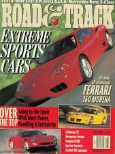 Road & Track May 1999 – Extreme Sports Cars / Ferrari 360 Modena / Mercedes Benz