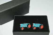 Fordson Major Blue Tractor Cufflinks Gift Boxed Enamel Farming Wedding Tie Shirt