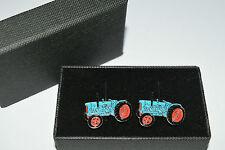 Fordson Major Blue Tractor Cufflinks Gift Boxed Enamel Farming Wedding Tie Shirt