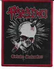 ASESINO-CRISTO SATANICO-WOVEN PATCH-RED BORDERS
