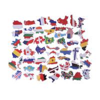 50pcs drapeaux nationaux autocollants bricolage scrapbook valise ordinateur pLTA