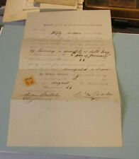 1866 New York and New Haven Railroad Signed Stamped $50 Property Damage Voucher