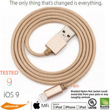 MFI Original Aluminum Braid Apple iPhone 6S Plus 5C Lightning USB Cable Charger