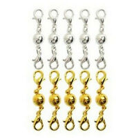 10Pcs Gold & Silver Ball Tone Magnetic Lobster Clasps for Jewelry Necklaces SM