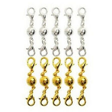 10Pcs Gold & Silver Ball Tone Magnetic Lobster Clasps for Jewelry Necklaces EP