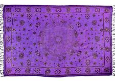 "NEW Zodiac Signs on Purple Altar Cloth Sarong 42""x 68"""