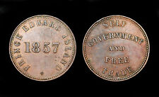 1/2 Penny 1857 Prince Edward Island, Canada. Bronze