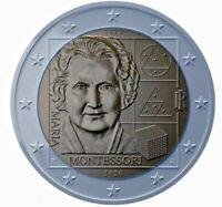 2 Euro 2020 Italien 150. Geburtstag Maria Montessori bankfrisch