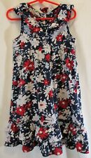Crazy 8 Sleeveless Sundress Girls Size 5 Empire Waist Button Down Back V-Neck