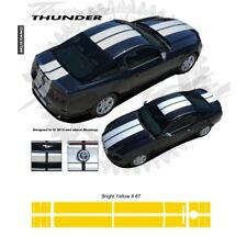 Ford Mustang 2013+ Bumper to Bumper Rally Stripes Graphic Kit - Bright Yellow
