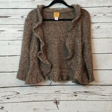 Ruby Road Chunky Knit Cardigan Sweater Brown Petite Large